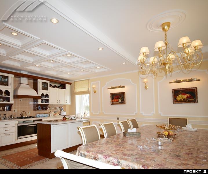 Дизайн кухни в жилом доме