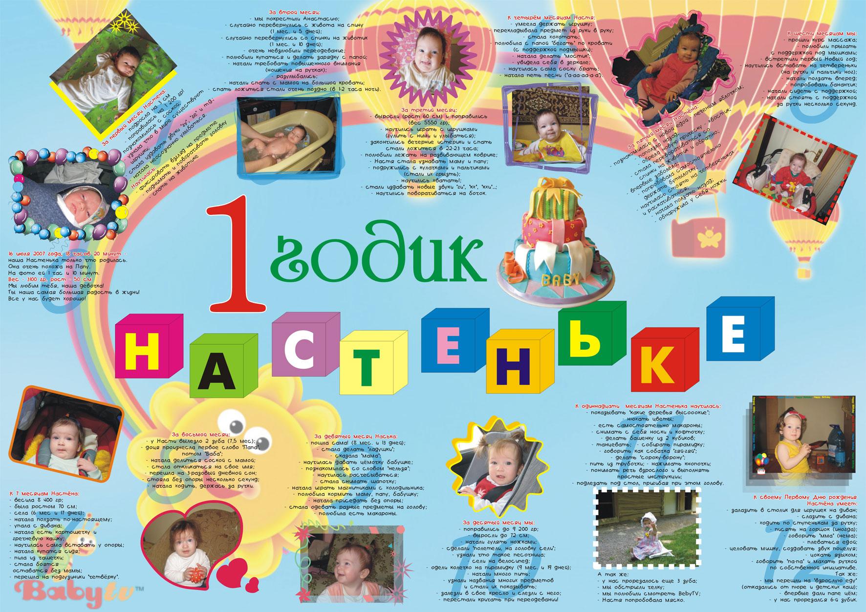 Детский плакаты на день рождение