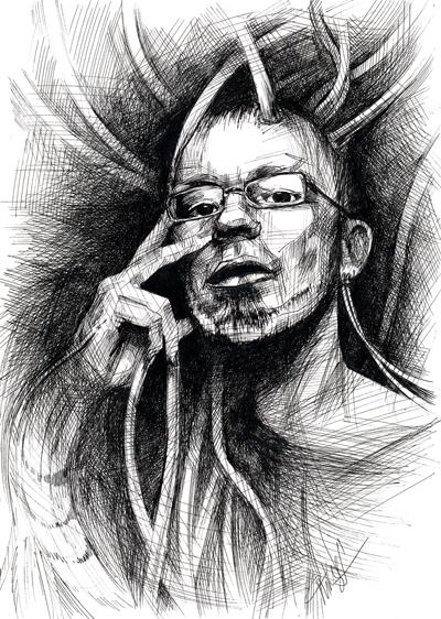 Простые рисунки черной гелевой ручкой