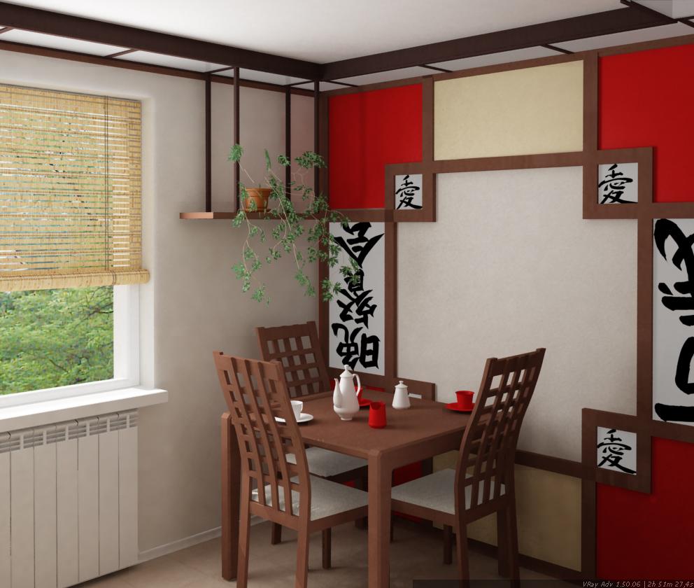 Интерьер в японском стиле кухня