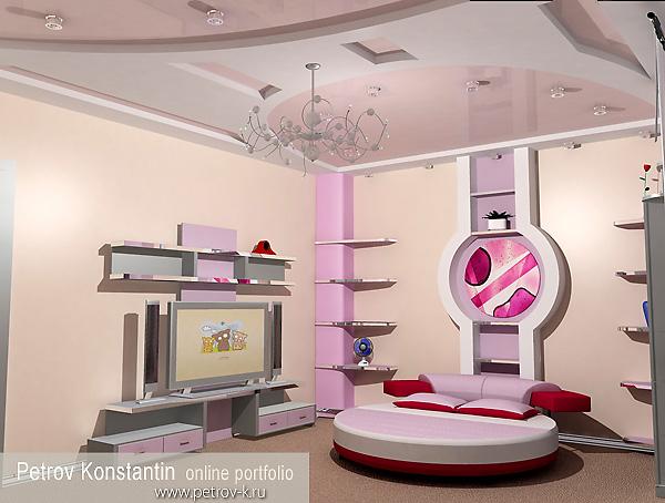 детская комната для девочки (600x454). детская комната для девочки.