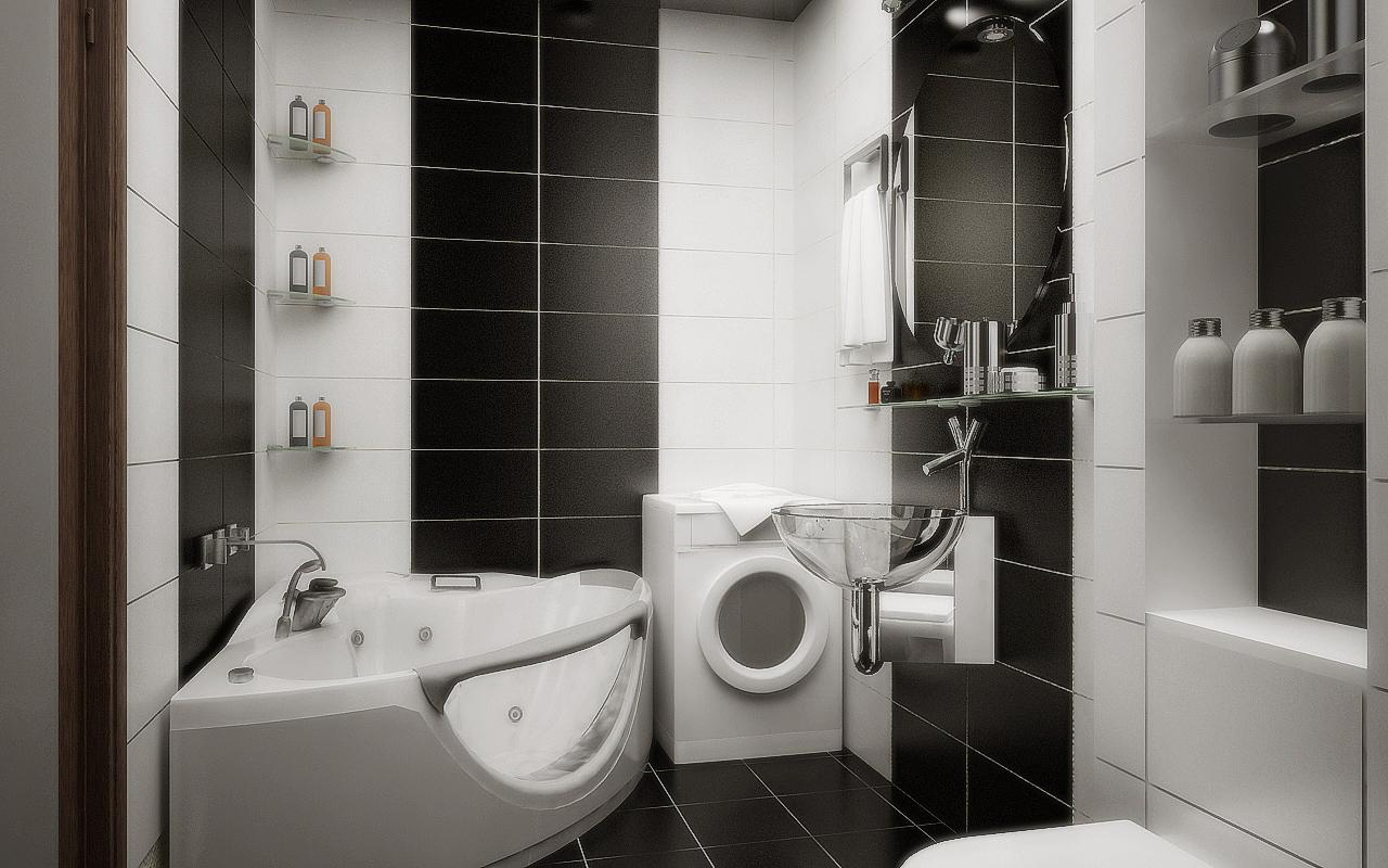 Черный дизайн ванной комнаты фото