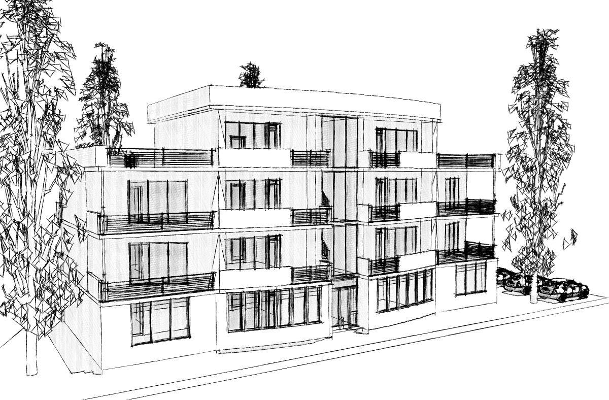 Эскиз малоэтажных многоквартирных