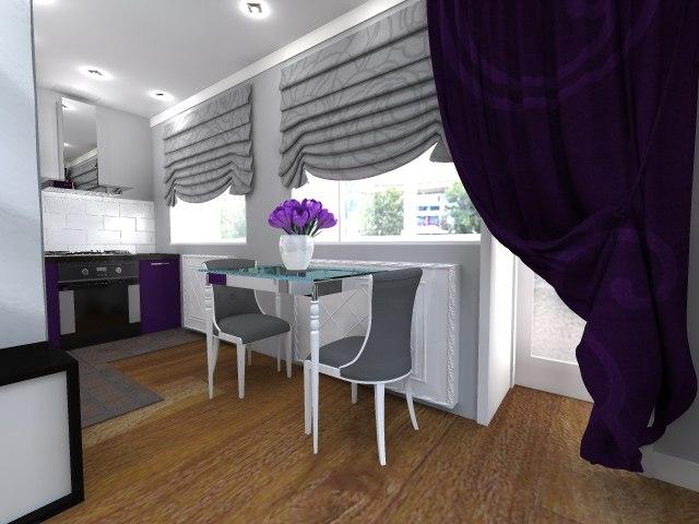 Дизайн гостиная-кухня в хрущевке