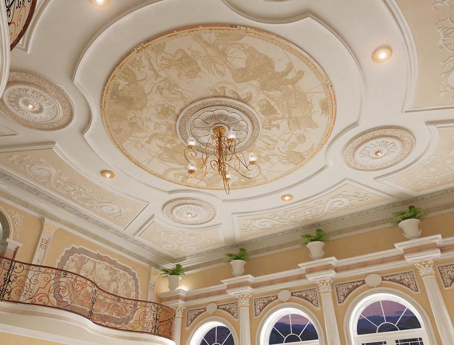 Дизайн дома потолки