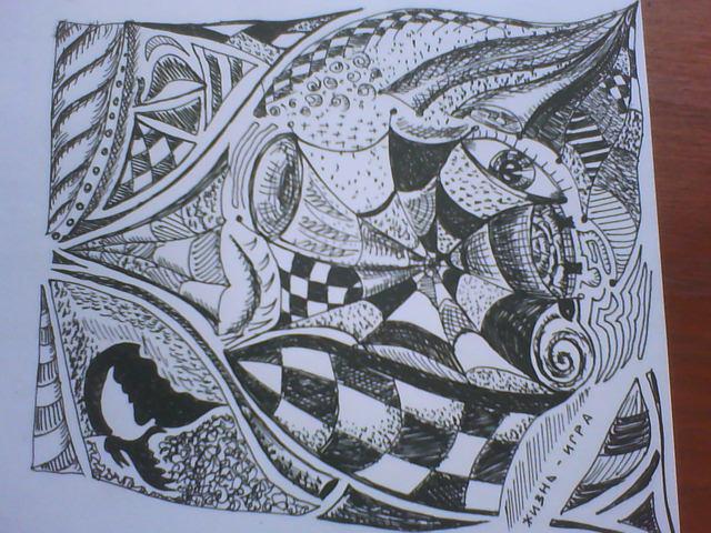 Плече абстракция искусство татуажа