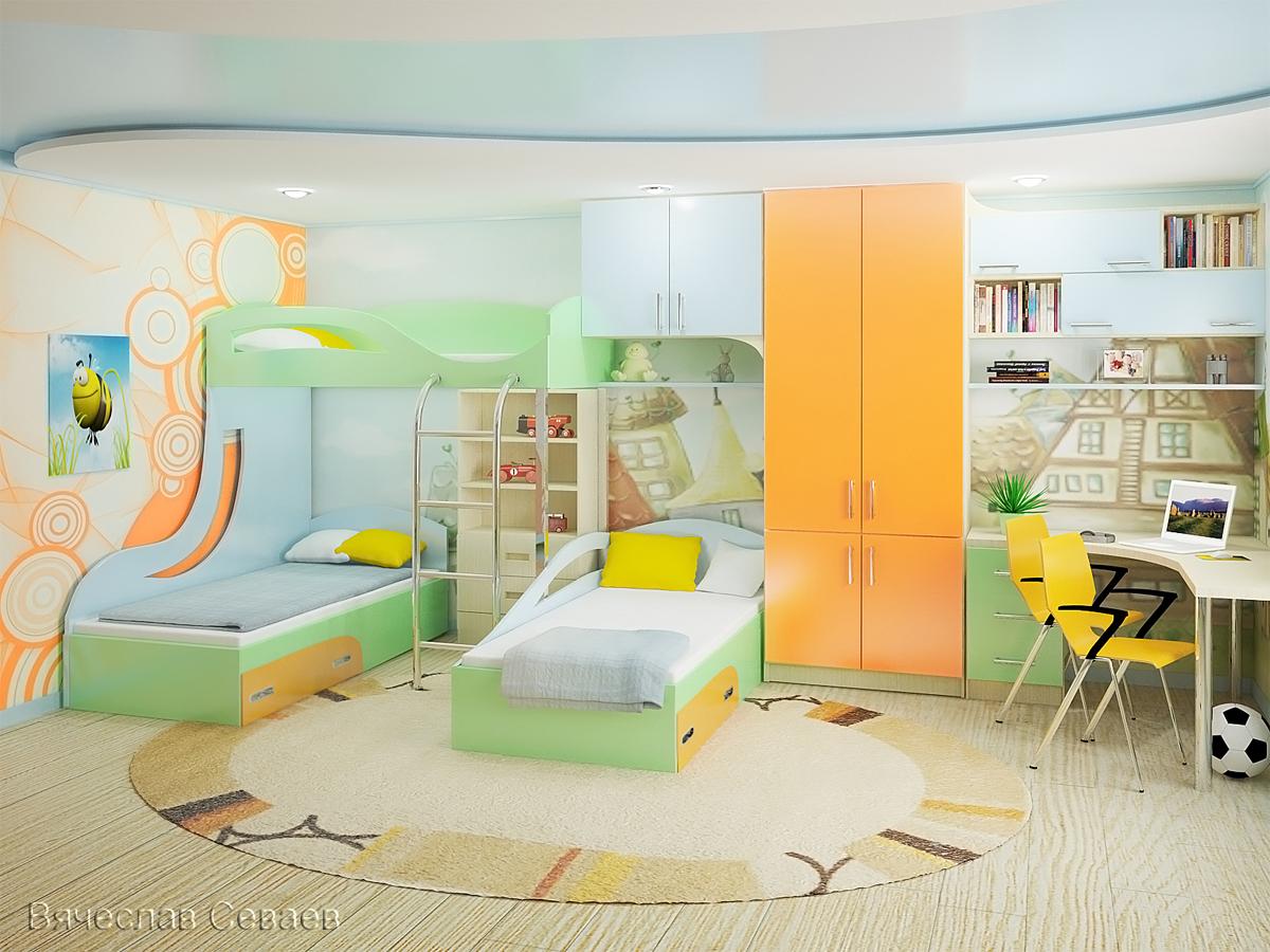 Дизайн детских комнат для 3 девочек фото