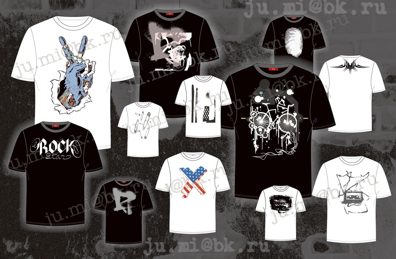 Принты для футболок для девушки