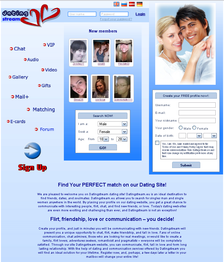 Free dating site no registration required
