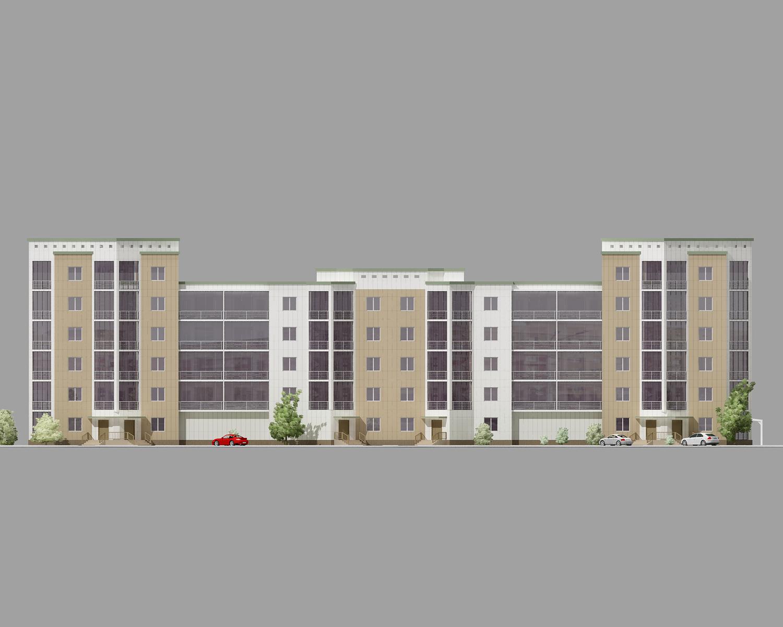 Проект жилого дома средней этажности