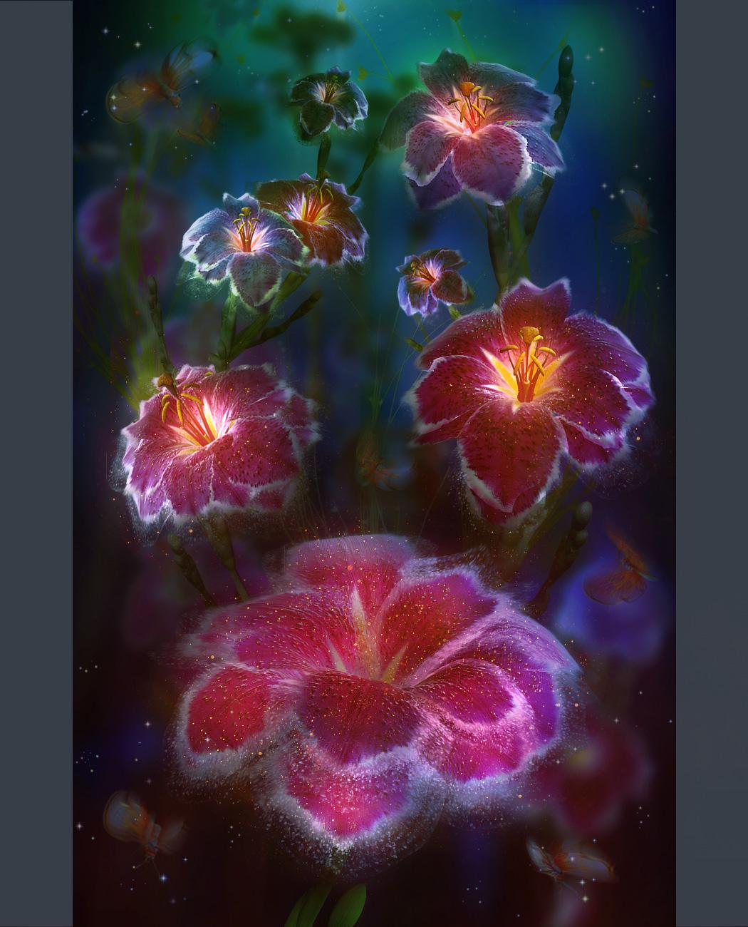 Волшебные цветы рисунки 4
