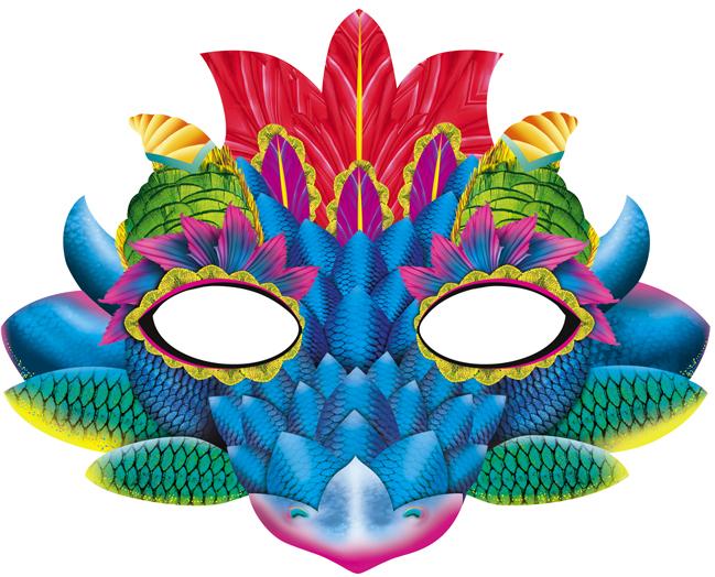 Сделать маску дракона своими руками