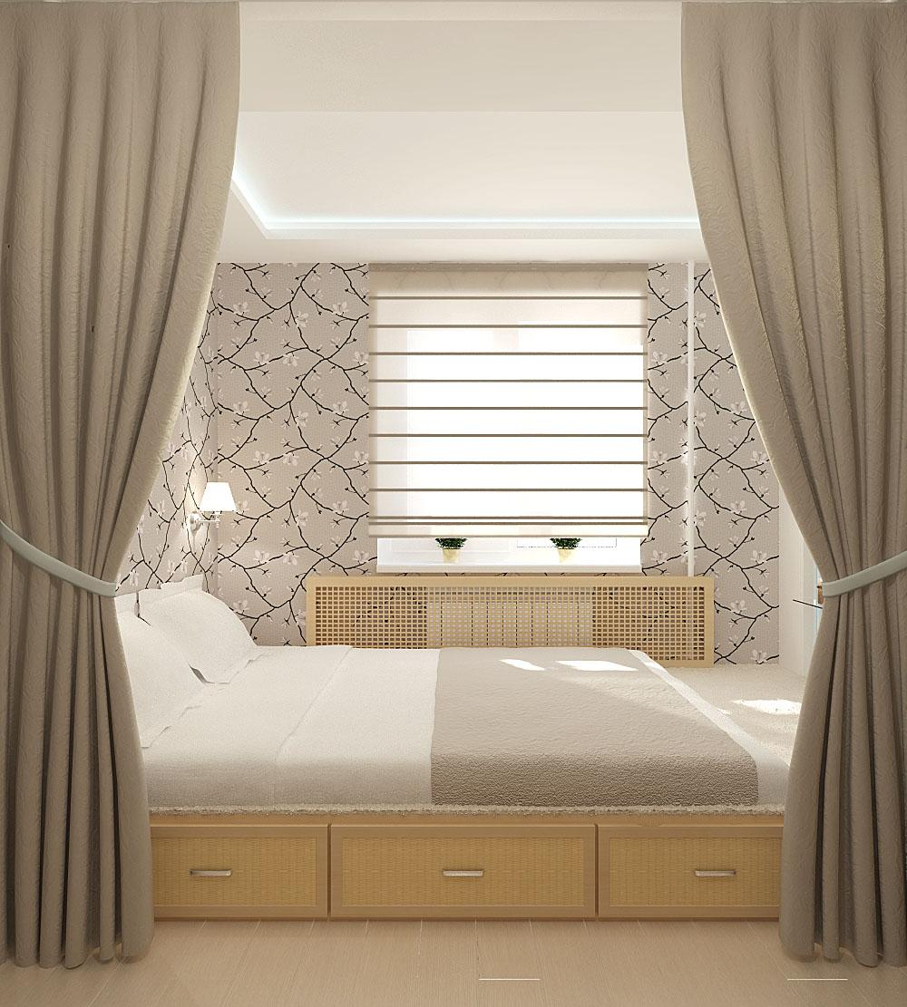 Подиум-кровать в спальне своими руками