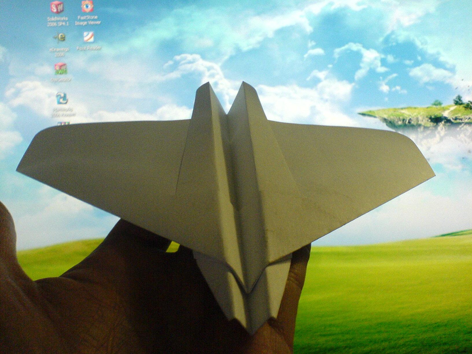 Летающее крыло (бесхвостка) из бумаги Всё самое интересное! 21