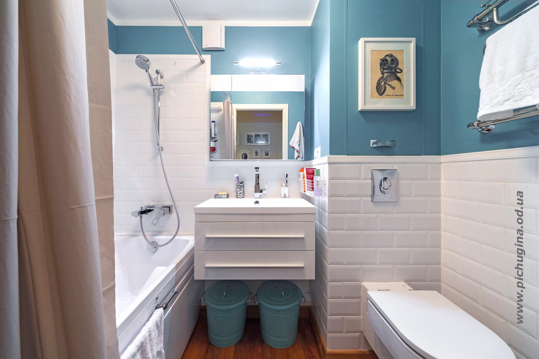 В ванной комнате дизайн бюджетный вариант