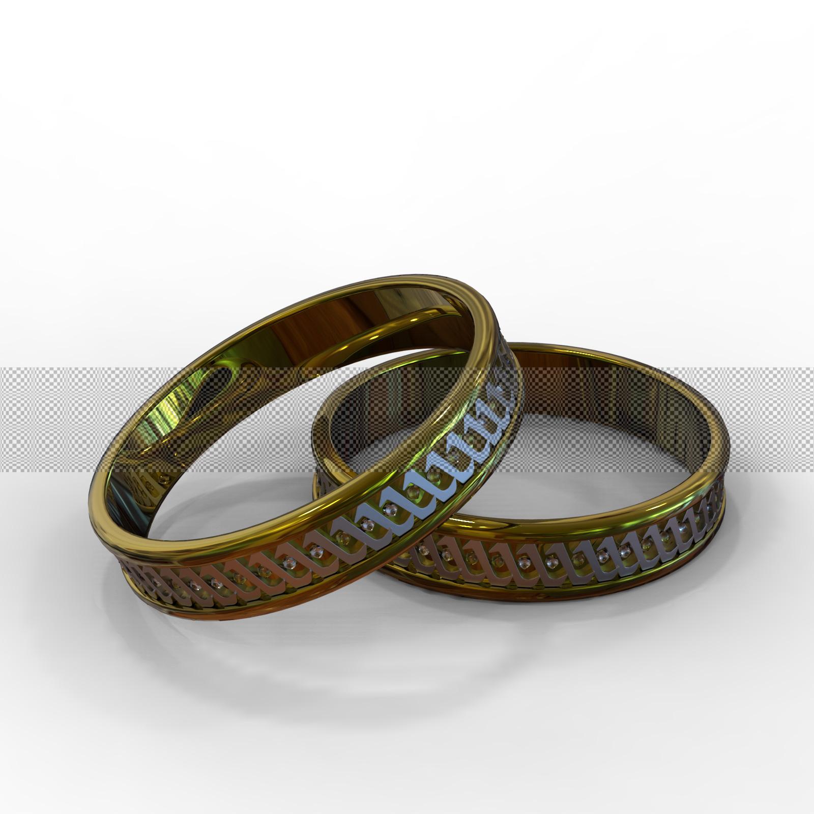 Обручальные кольца 3д фото 5