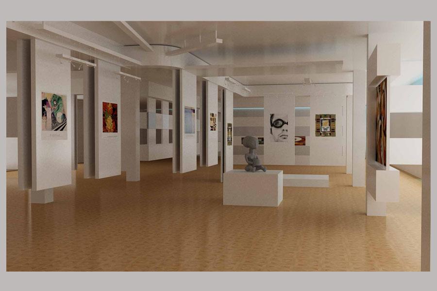 Дизайн выставочных залов