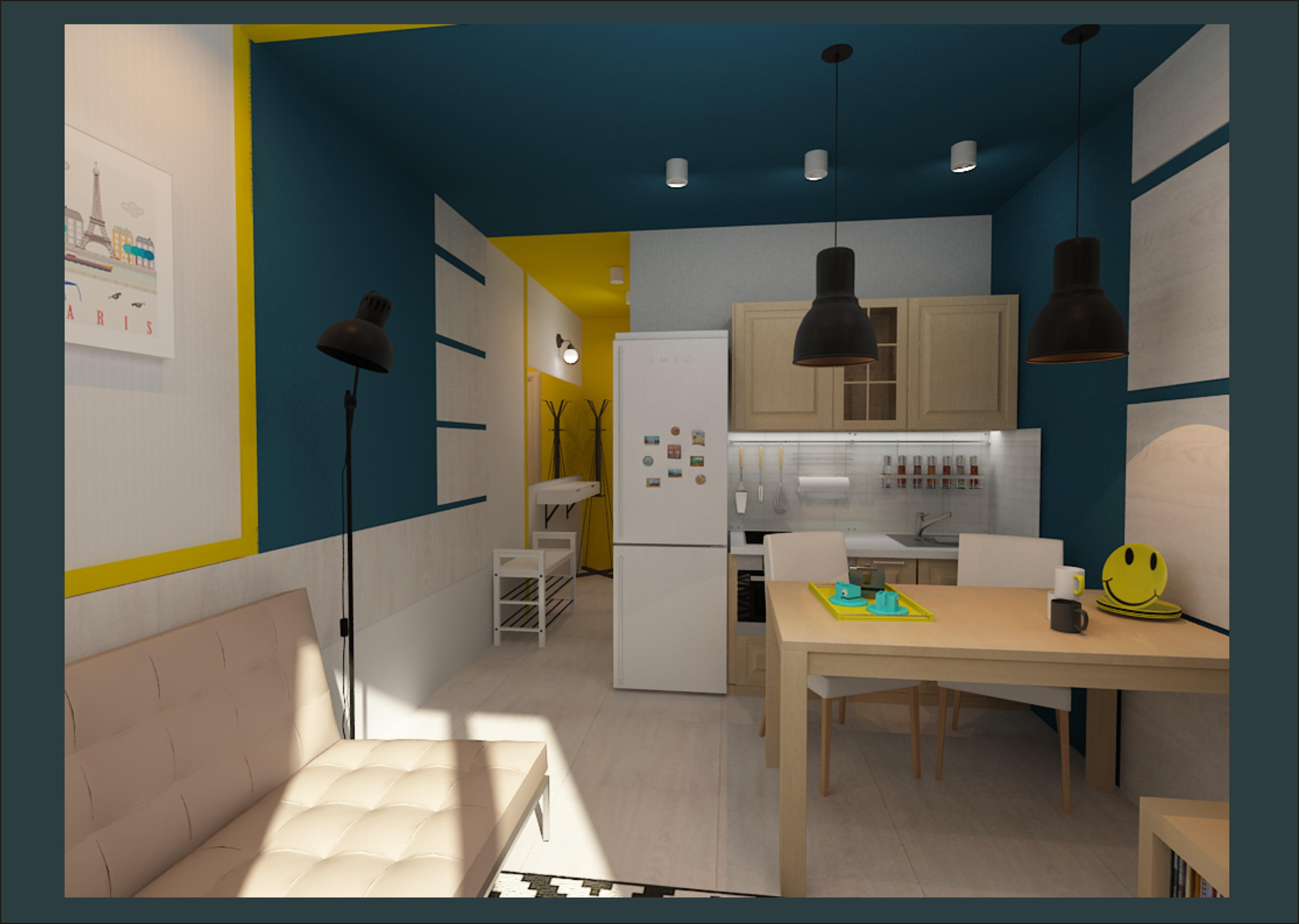 Фото дизайн квартиры студии 28 м кв и схемой