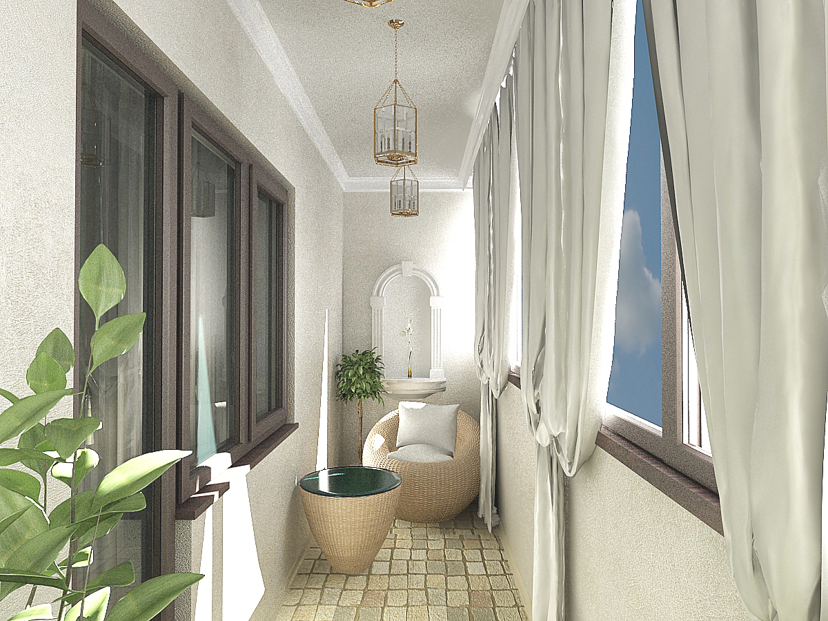 Балкон 4 метра дизайн фото