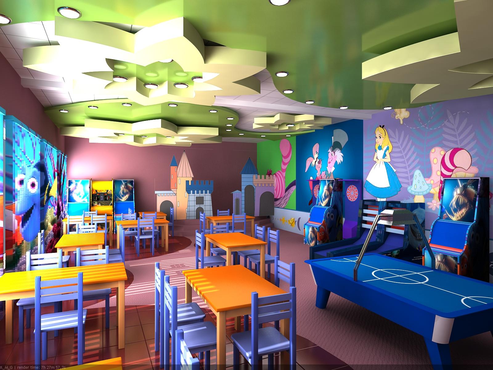 Дизайн детского кафе фото