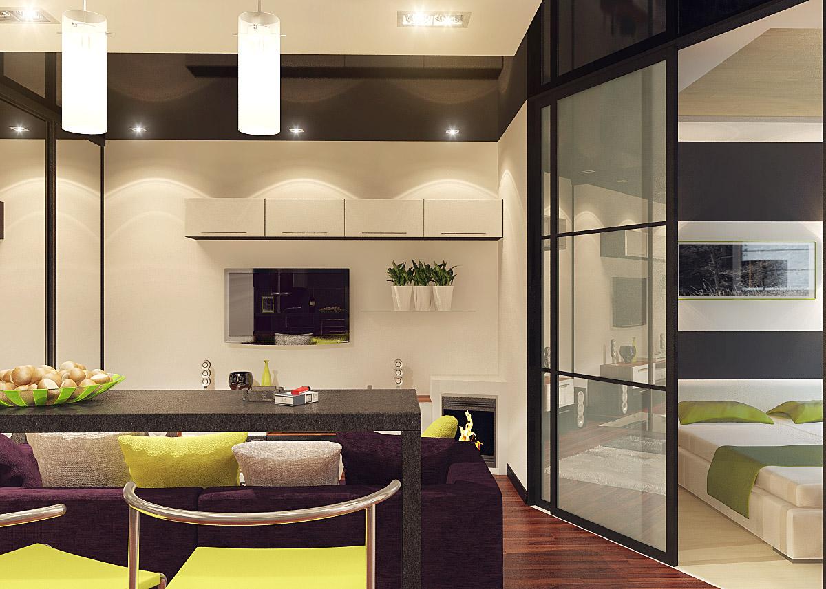 Фото интерьера спален и кухонь
