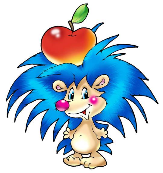 А знаете ли вы, что делает ёжик с яблоком, наколотым на иголки.  Это изображение колючего зверька во многих странах...