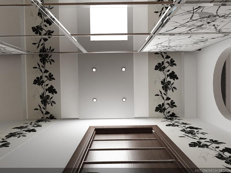 Потолок из гипсокартона фото коридор