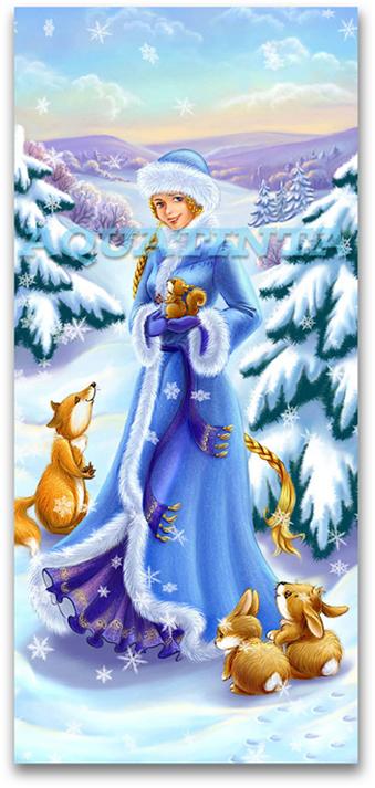 Снегурочка с открытки с